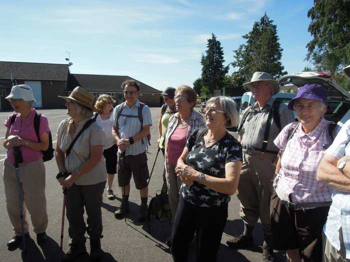 A wonderfully sunny morning brings out 26 of us on Anne's walk