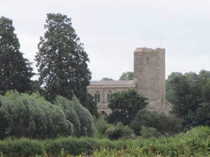 The church at Deerhurst a few fields away