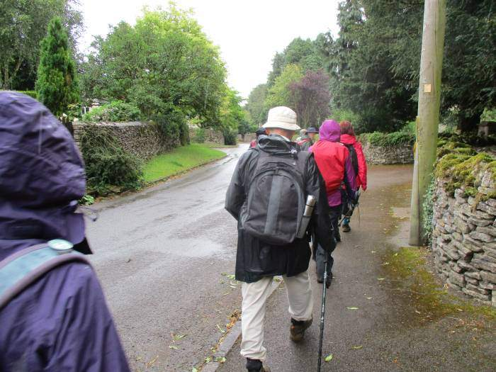 After lunch we walk along the road through Kingscote