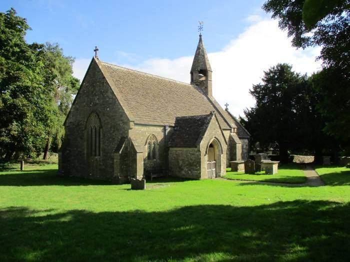 We walk through the churchyard