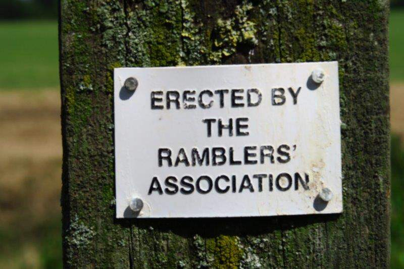 And to help us on our way the Ramblers have been busy