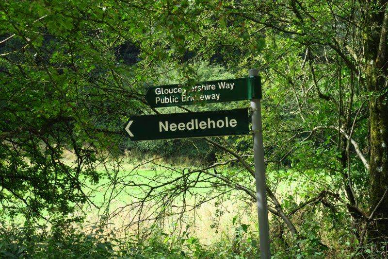 Past the sign to Needlehole and back to the cars