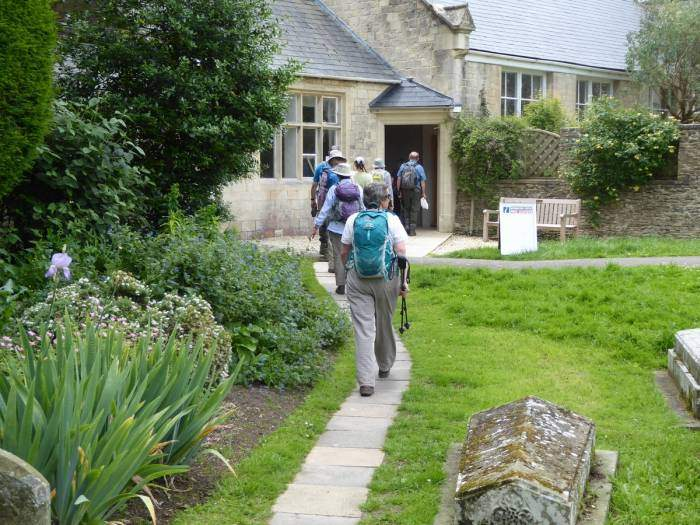 We use the new passage from the church to get back to the cars. Thanks Jill for a lovely walk.