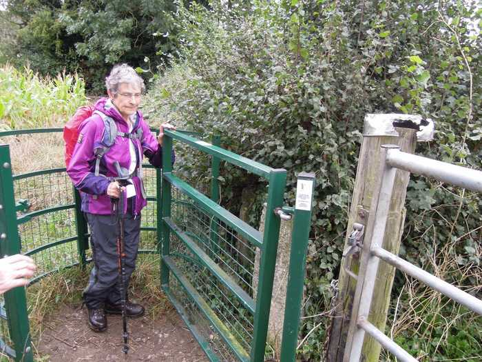 Heather passes through one of the kissing gates financed by the group book sales