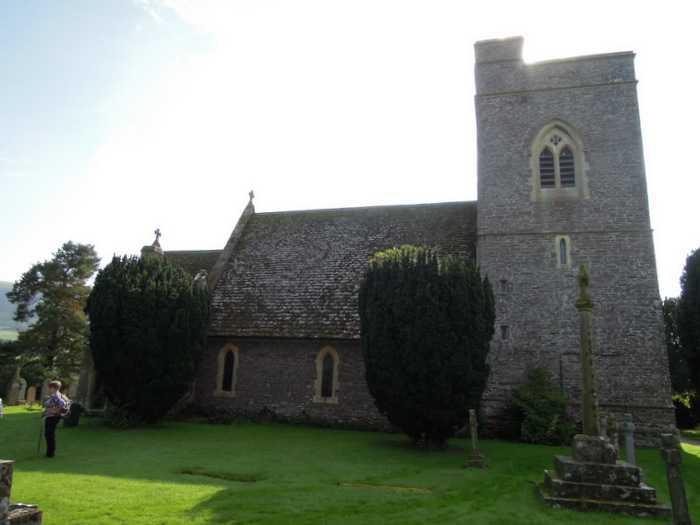 To Llangasty church