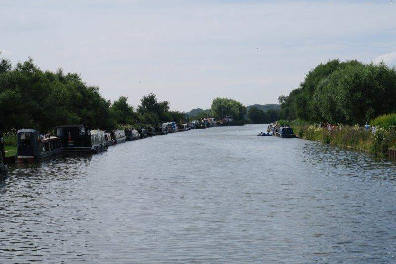 Then continue along the tow path