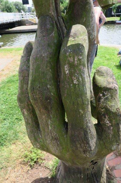 A sculpture on the canal path