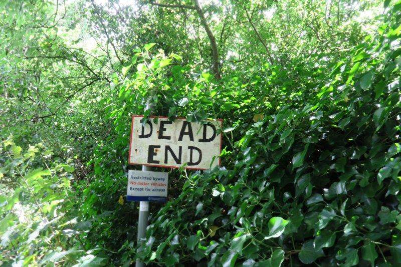 No dead end for us as we head down into Toadsmoor