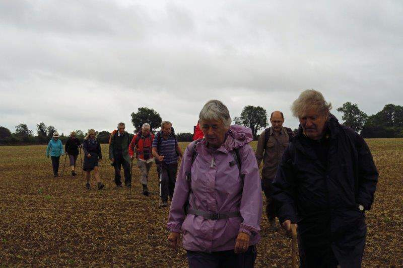 And we make our way over a recently ploughed field