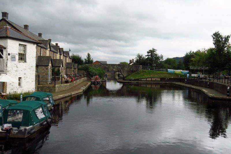 The start of the Brecon to Monmouth Canal