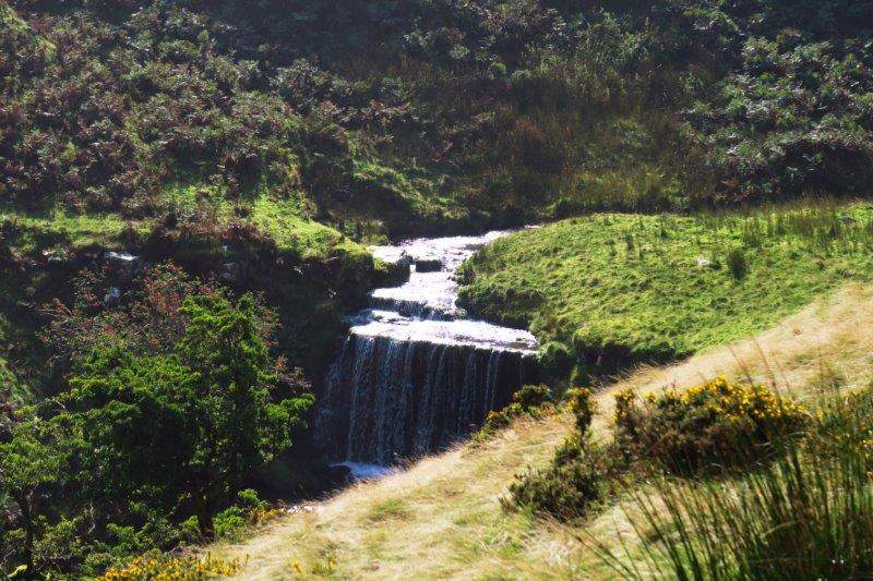 A waterfall greets us as we make our way up Cwm Sere