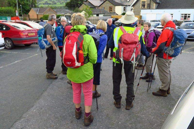 On the way home we stop at Crickhowell for Peter to lead our last walk