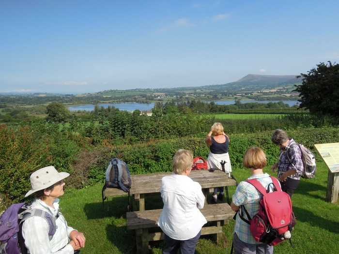 After a few hundred yards we reach the village hall where we picnic and look at more views