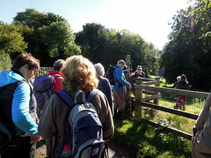 It takes quite a time for 24 of us to cross this stile