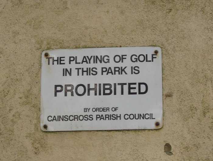 No golf allowed