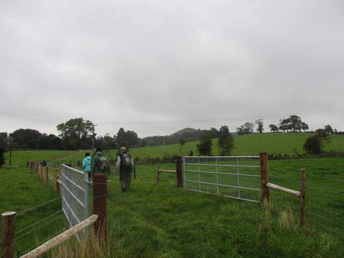 And into open fields, with Cam Peak in the distance