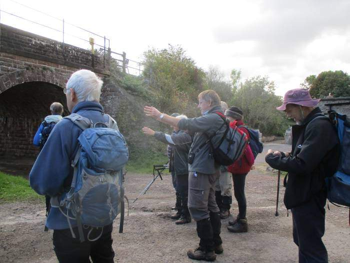 Patrick points out that this is an unusual railway bridge