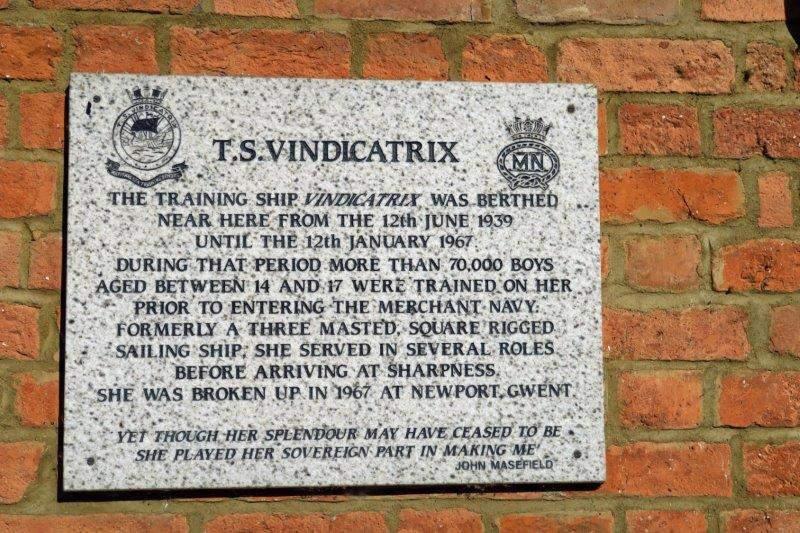 A plaque commemorating the old Vindicatrix