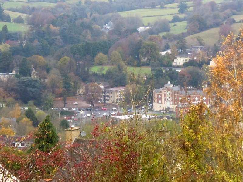Traffic queuing in Stroud centre