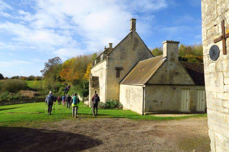 Past an old farmhouse