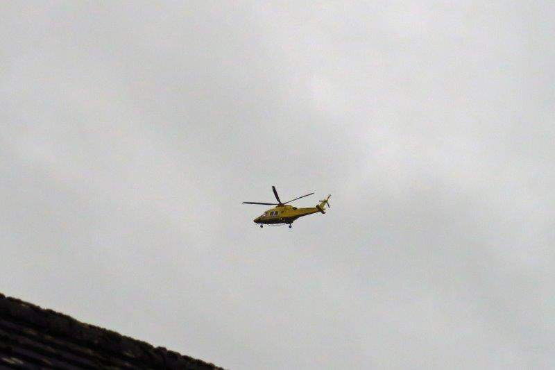 Rescue helicopter scrambled - just in case