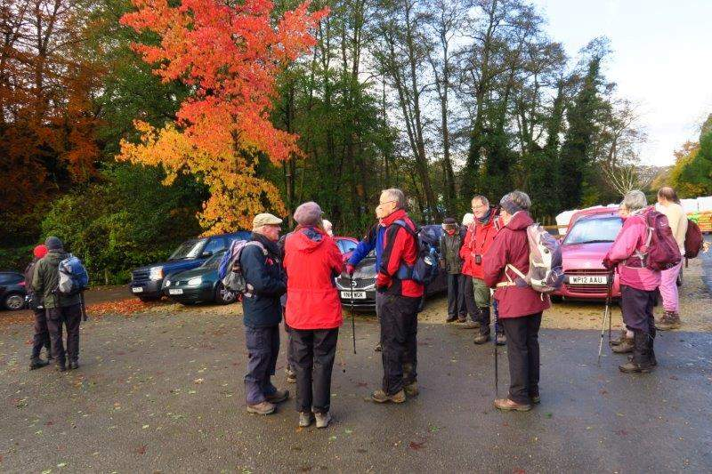 The garden centre car park. Colin greets another good crowd