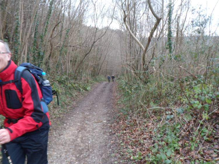 A steep climb up to Uley Bury