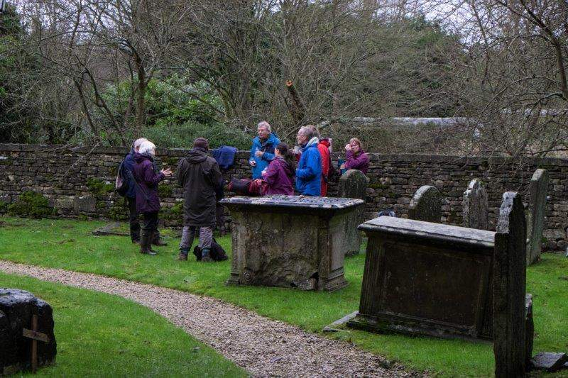 Stopping in the churchyard