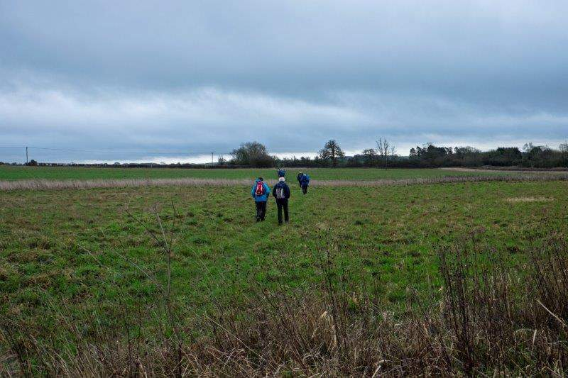 We continue across fields close to Andoversford
