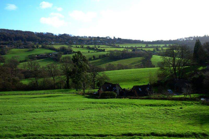 As we look back down the valley before returning to Painswick.