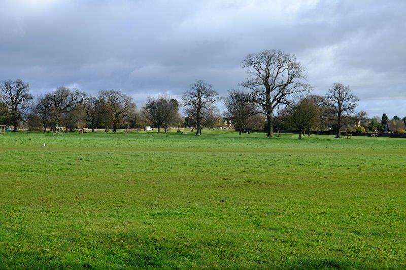 Walking back across the Park
