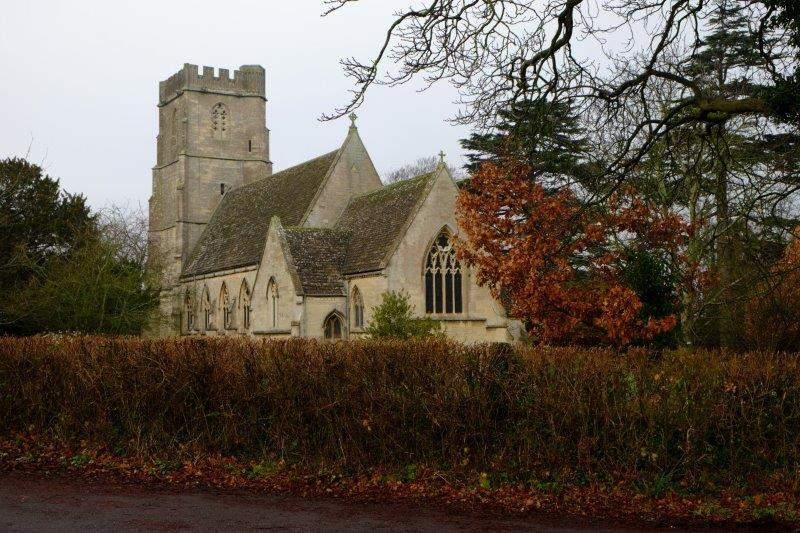 Coaley Church behind us