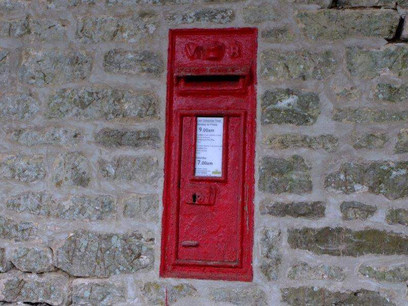 A Victorian postbox