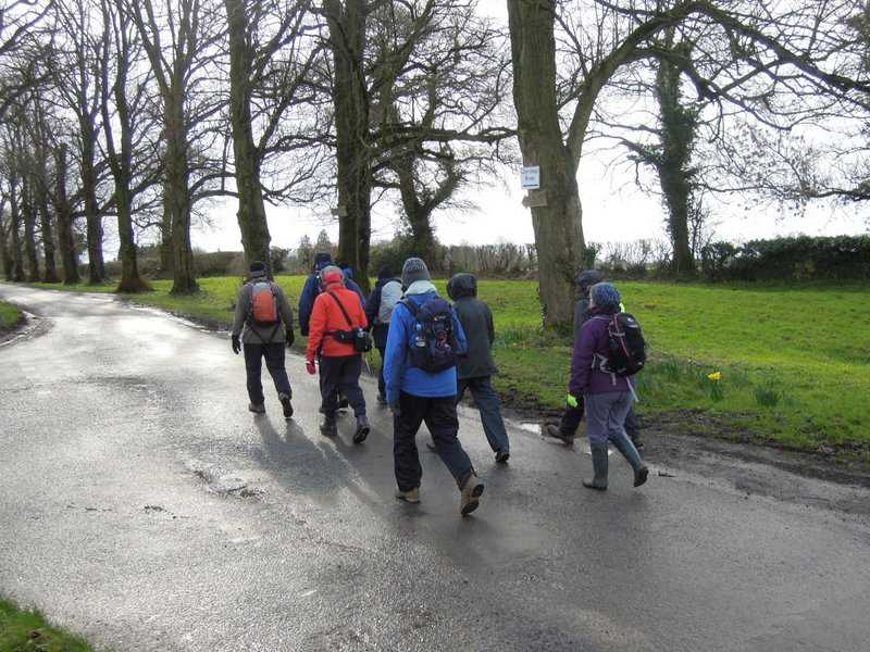 The wind is blowing quite strongly as we head towards Chavenage House