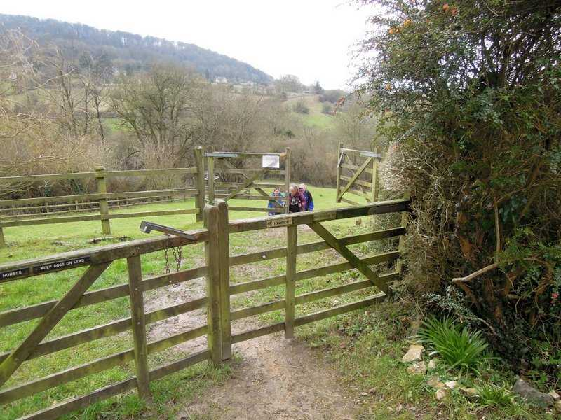 A drag up from the stream into Sheepscombe