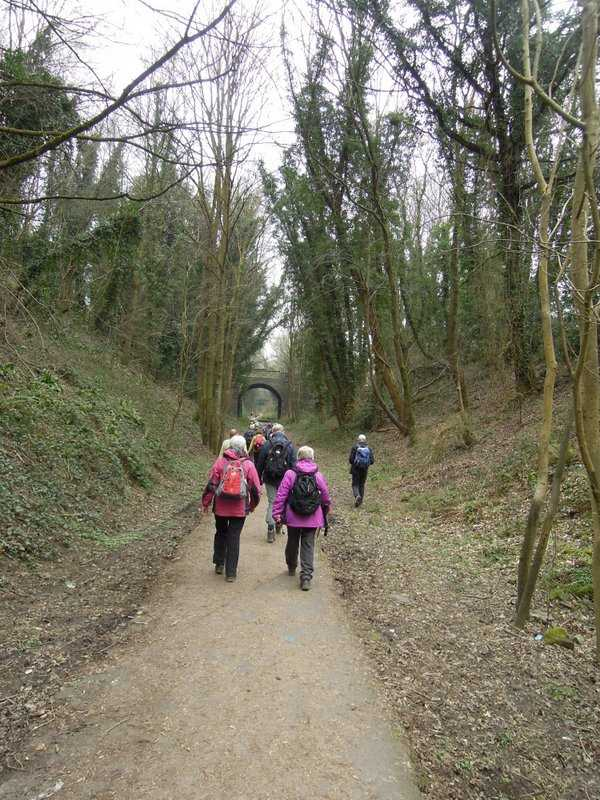 In Stroud we head along the old railway track towards Nailsworth