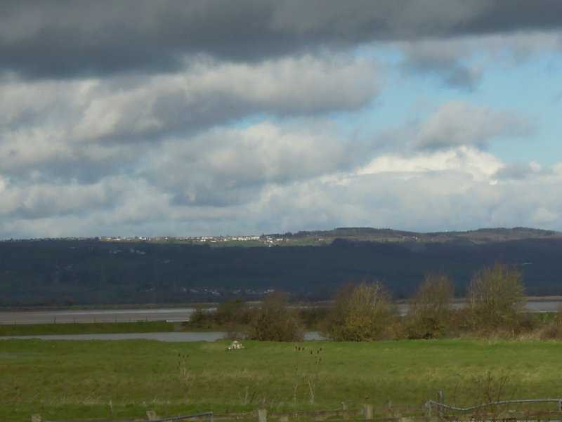 Also across the river is Cinderford on the sunny hilltop