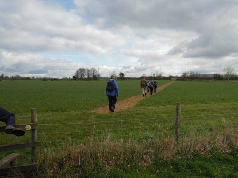 We head off across the fields with a well marked path