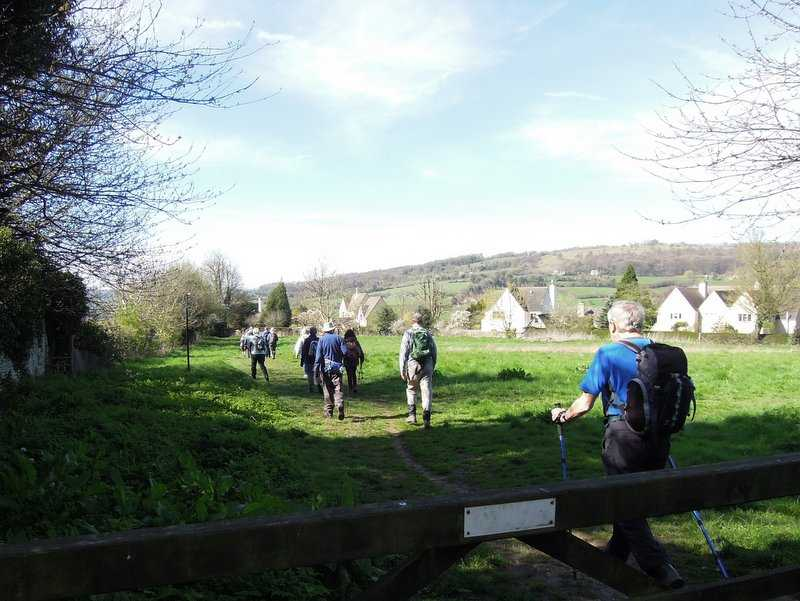 """We head through """"Tony Drake's field"""" on the Cotswold Way"""