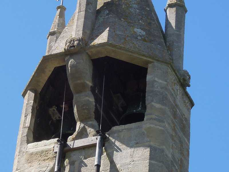 Here are the two bells, one dating from 1181. It was reinstalled in the new 1315 church.