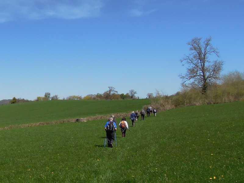 We head back across level fields
