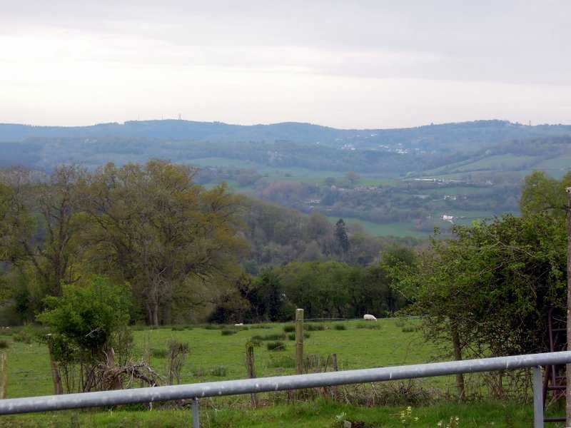 A view over to Plump Hill above Micheldean