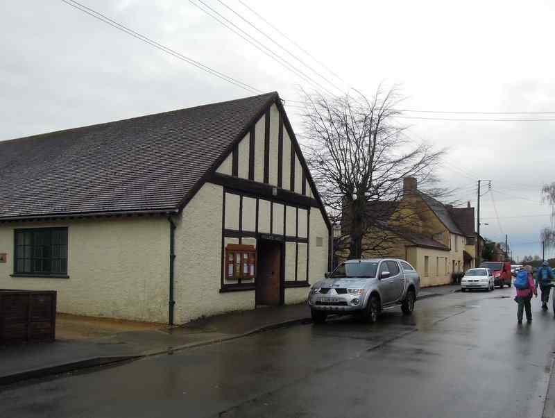 Past the village hall