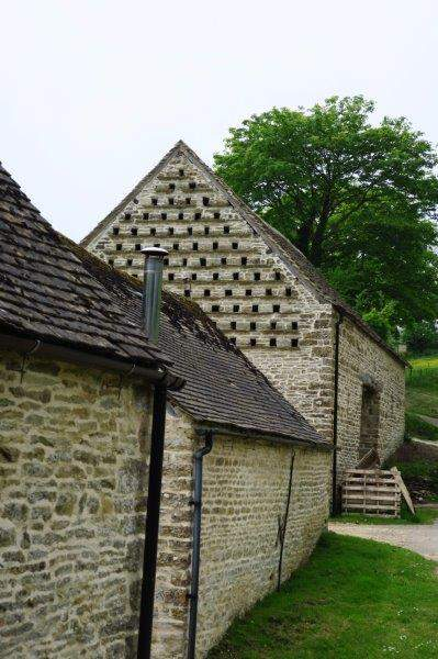 With its dovecote