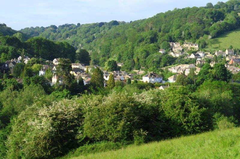 The Bourne with Toadsmoor valley behind
