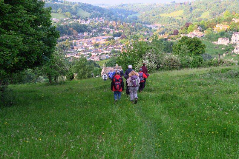 Continuing down into the valley
