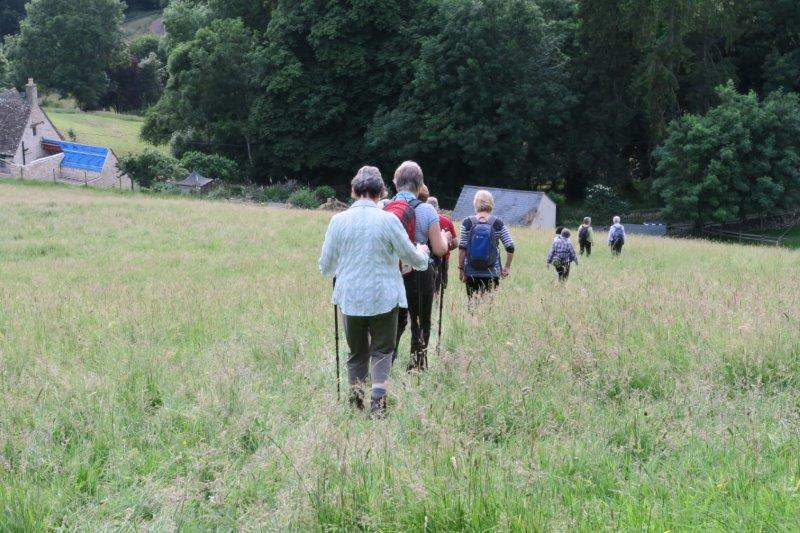 Continuing downhill towards Theescombe