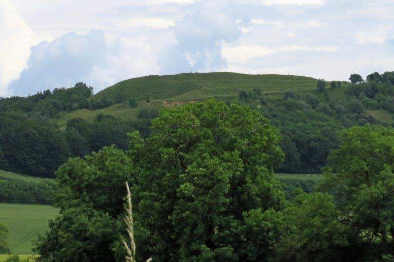 Painswick Beacon towering above us