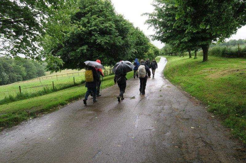 We follow the driveway into Bownham Hill equestrian centre