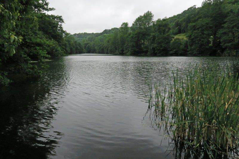 Round the bottom of the second lake
